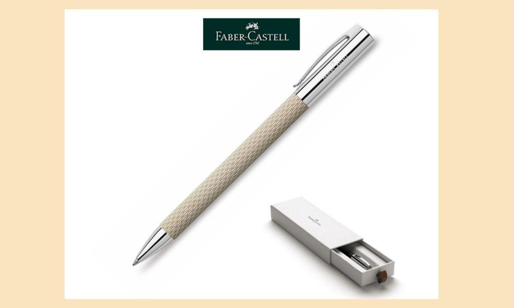 Faber Castell Ambition Drehkugelschreiber White Crema